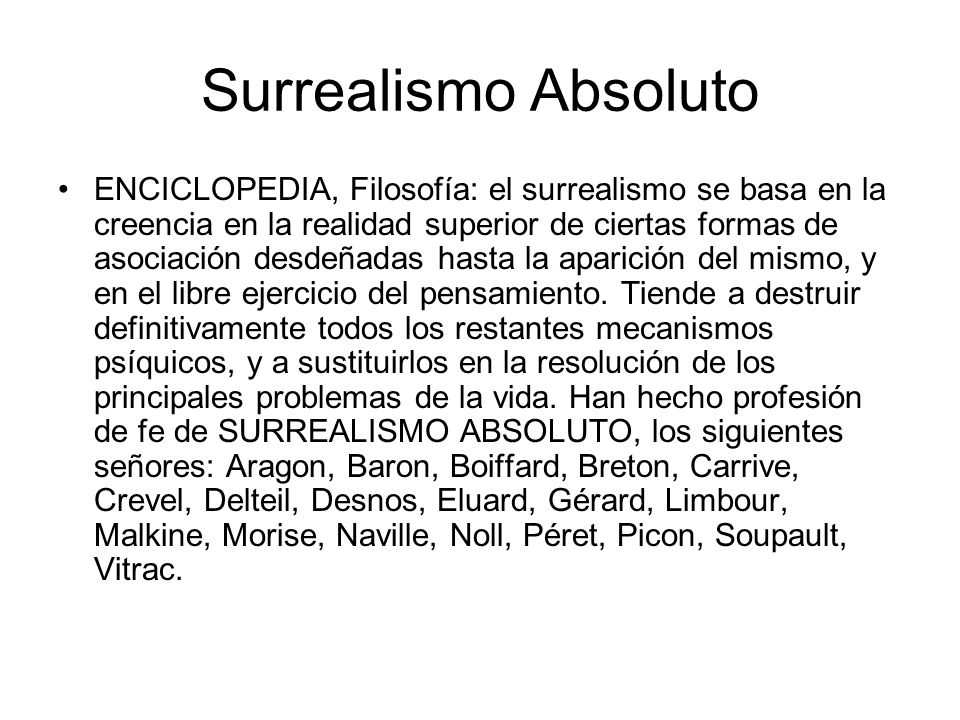 Surrealismo Absoluto