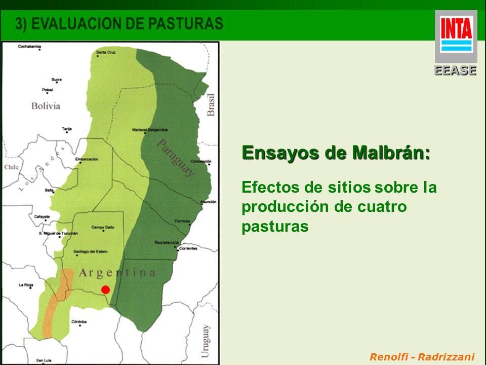 Ensayos de Malbrán: 3) EVALUACION DE PASTURAS