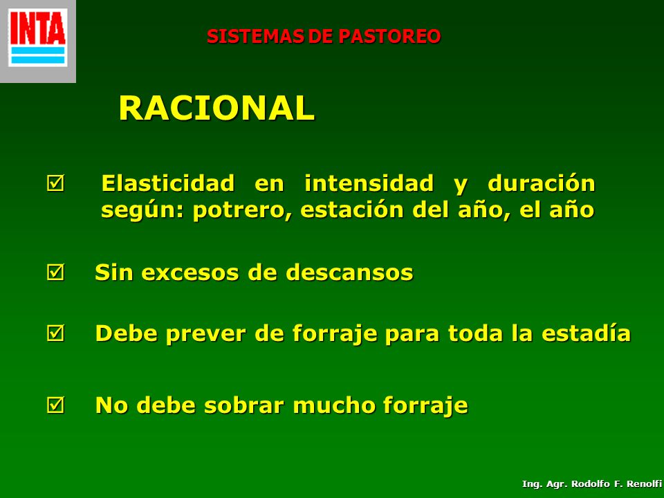Ing. Agr. Rodolfo F. Renolfi