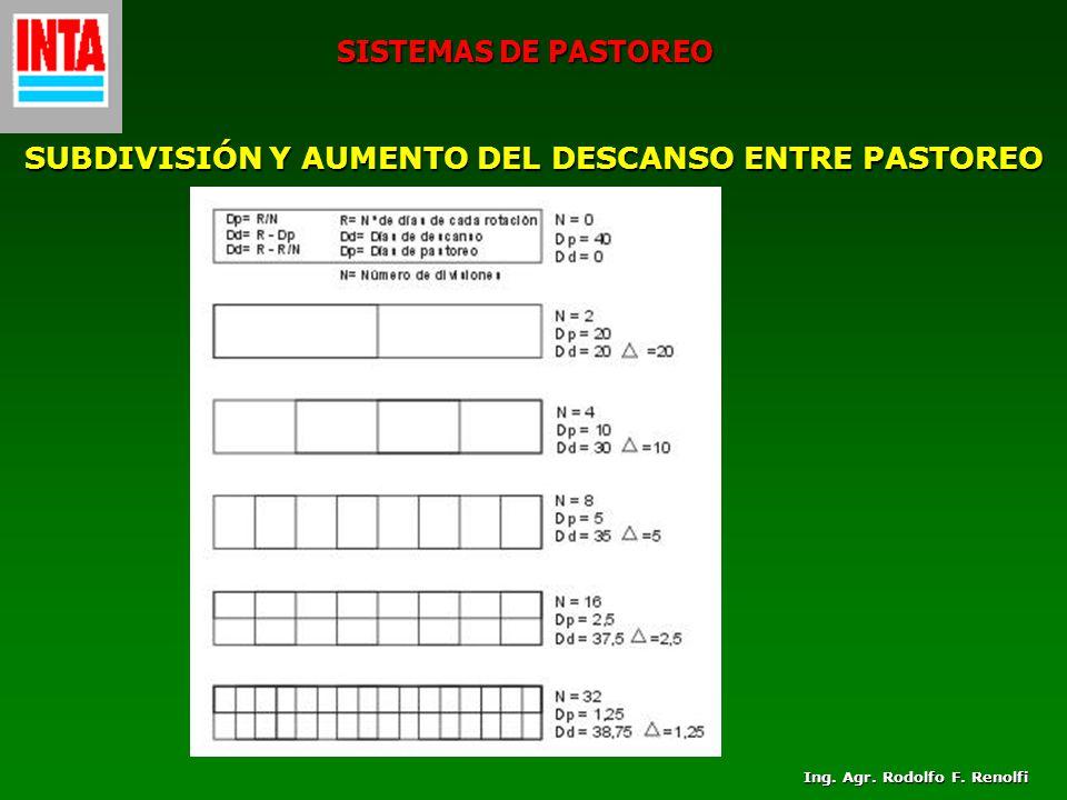 SUBDIVISIÓN Y AUMENTO DEL DESCANSO ENTRE PASTOREO