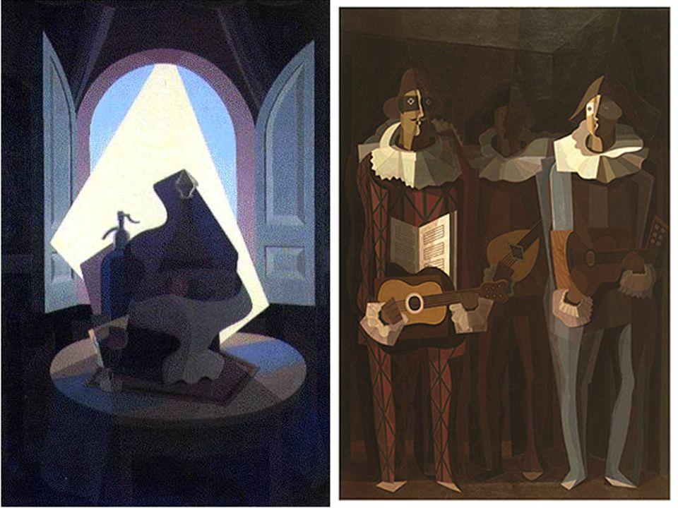 Pablo Picasso Tres músicos Emilio Pettoruti La última serenata 1921