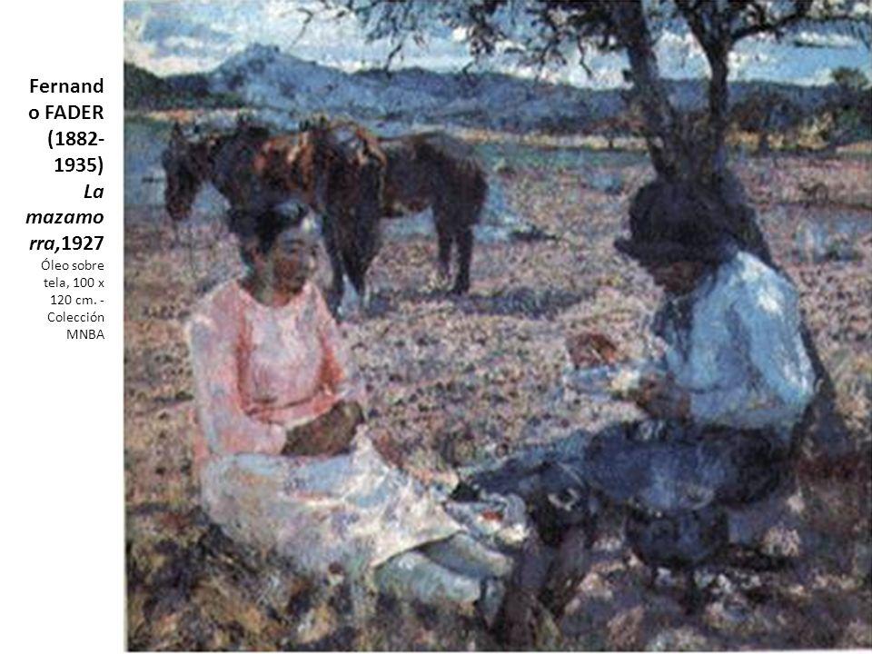 Fernando FADER (1882-1935) La mazamorra,1927 Óleo sobre tela, 100 x 120 cm. - Colección MNBA