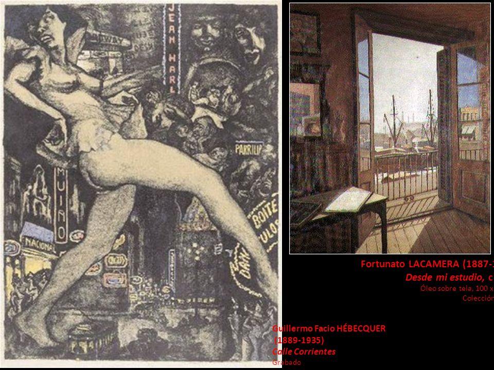 Fortunato LACAMERA (1887-1951) Desde mi estudio, c 1930 Óleo sobre tela, 100 x 80 cm. Colección MNBA