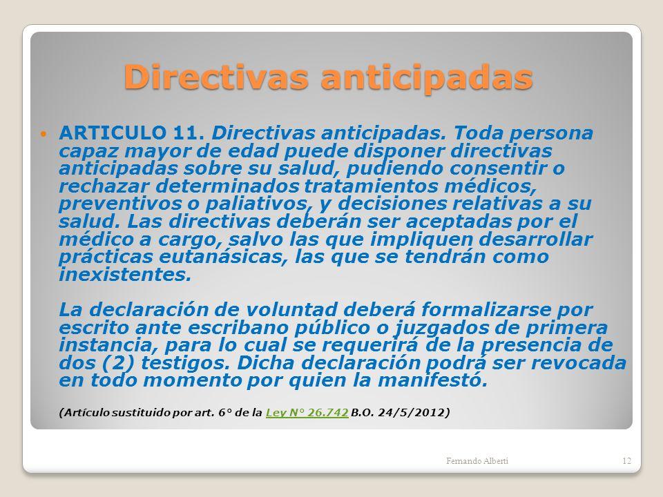 Directivas anticipadas