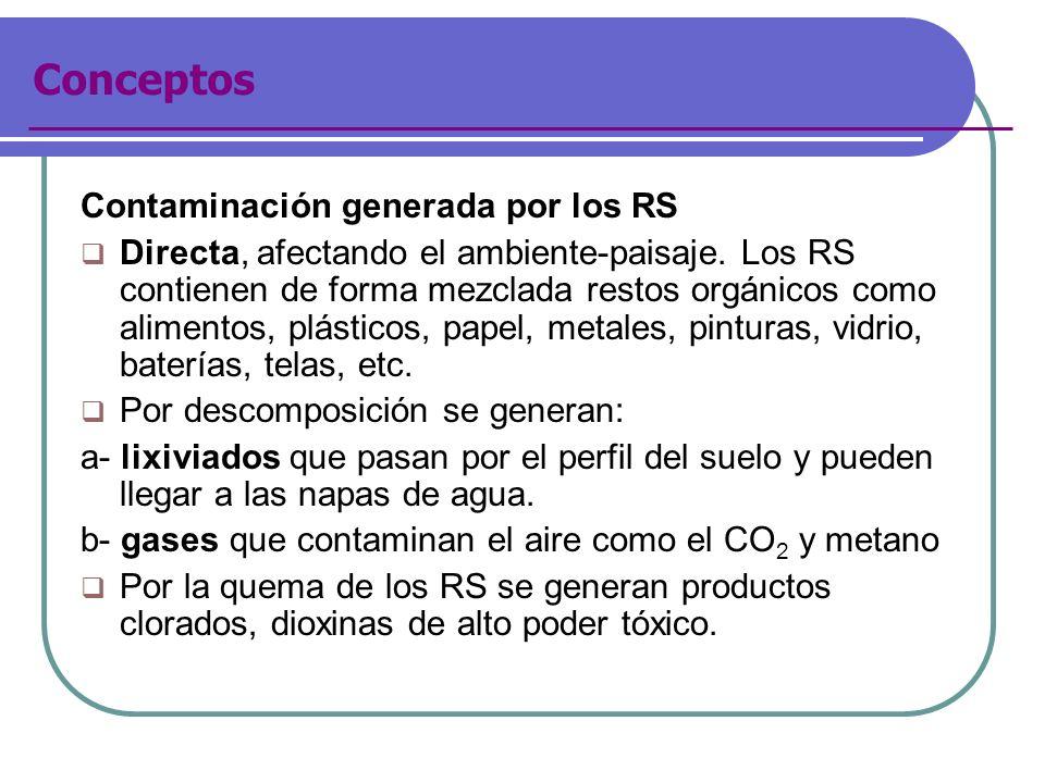 Conceptos Contaminación generada por los RS