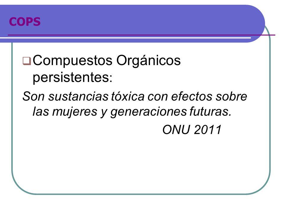 Compuestos Orgánicos persistentes: