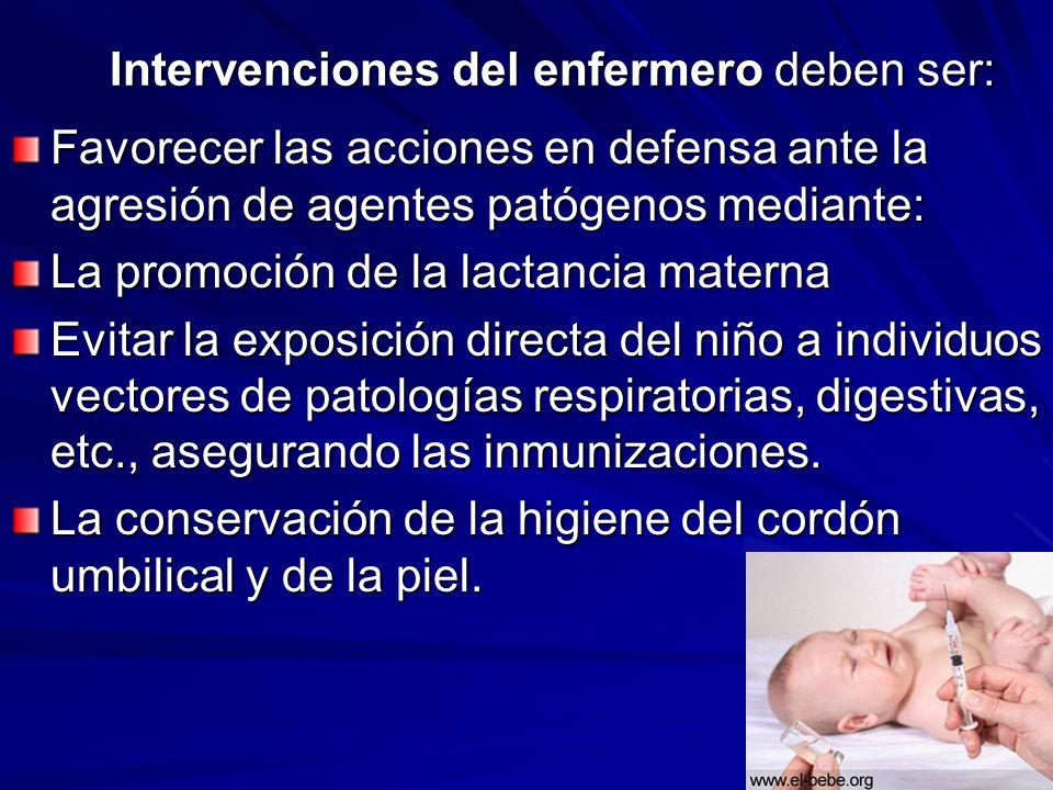 Intervenciones del enfermero deben ser: