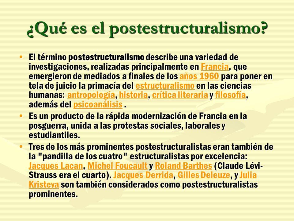 ¿Qué es el postestructuralismo
