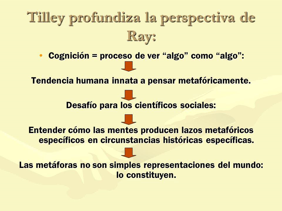 Tilley profundiza la perspectiva de Ray:
