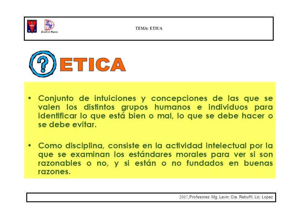 TEMA: ETICA ETICA.