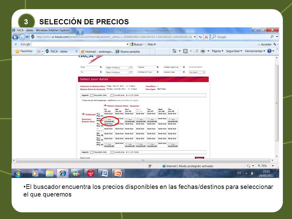 3 SELECCIÓN DE PRECIOS.