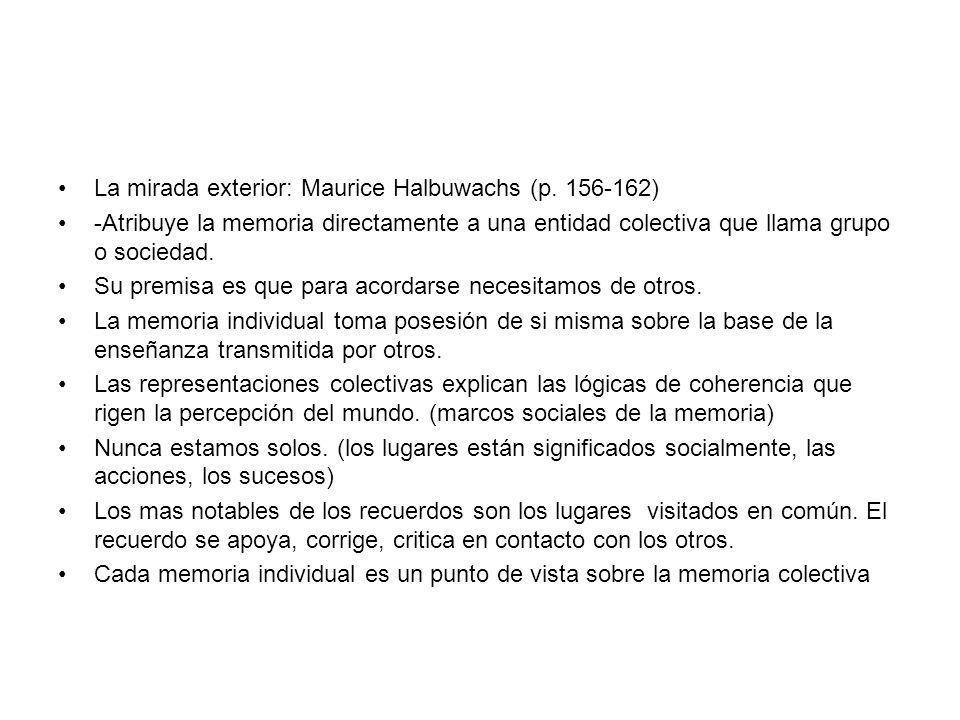 La mirada exterior: Maurice Halbuwachs (p. 156-162)