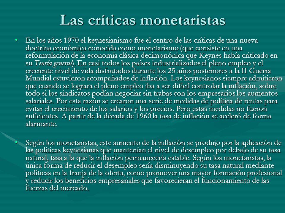 Las críticas monetaristas