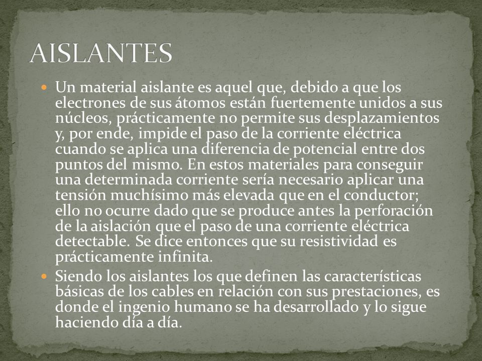 AISLANTES