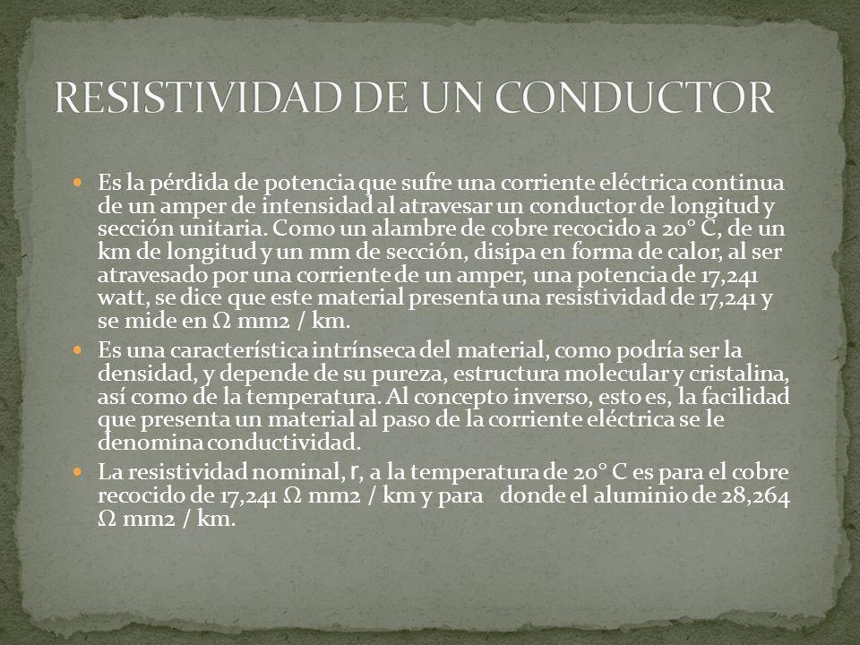 RESISTIVIDAD DE UN CONDUCTOR