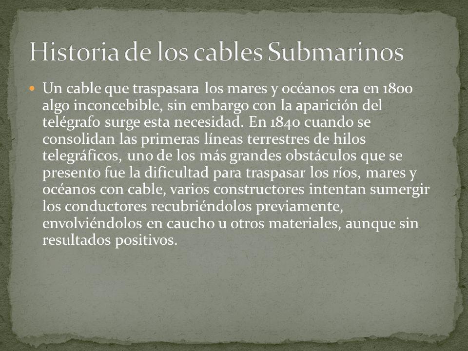 Historia de los cables Submarinos