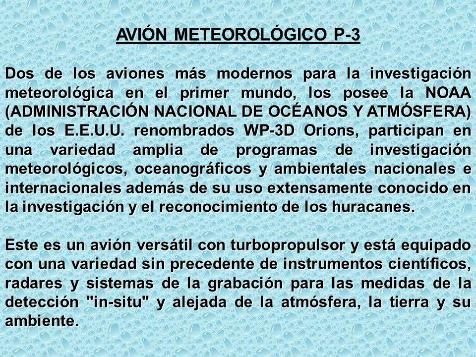 AVIÓN METEOROLÓGICO P-3