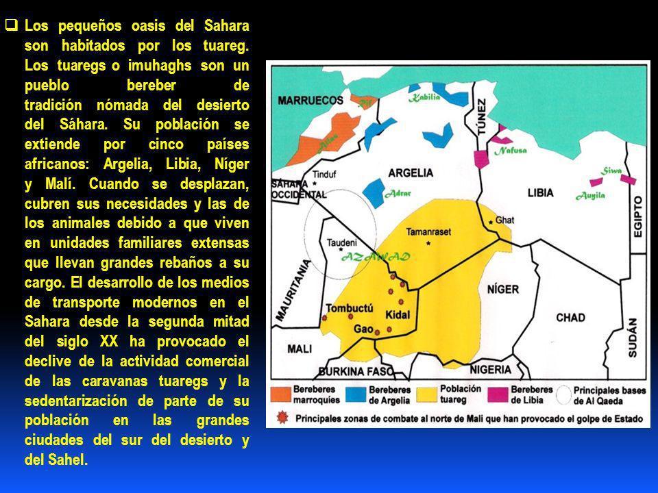 Los pequeños oasis del Sahara son habitados por los tuareg