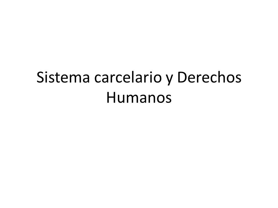 Sistema carcelario y Derechos Humanos