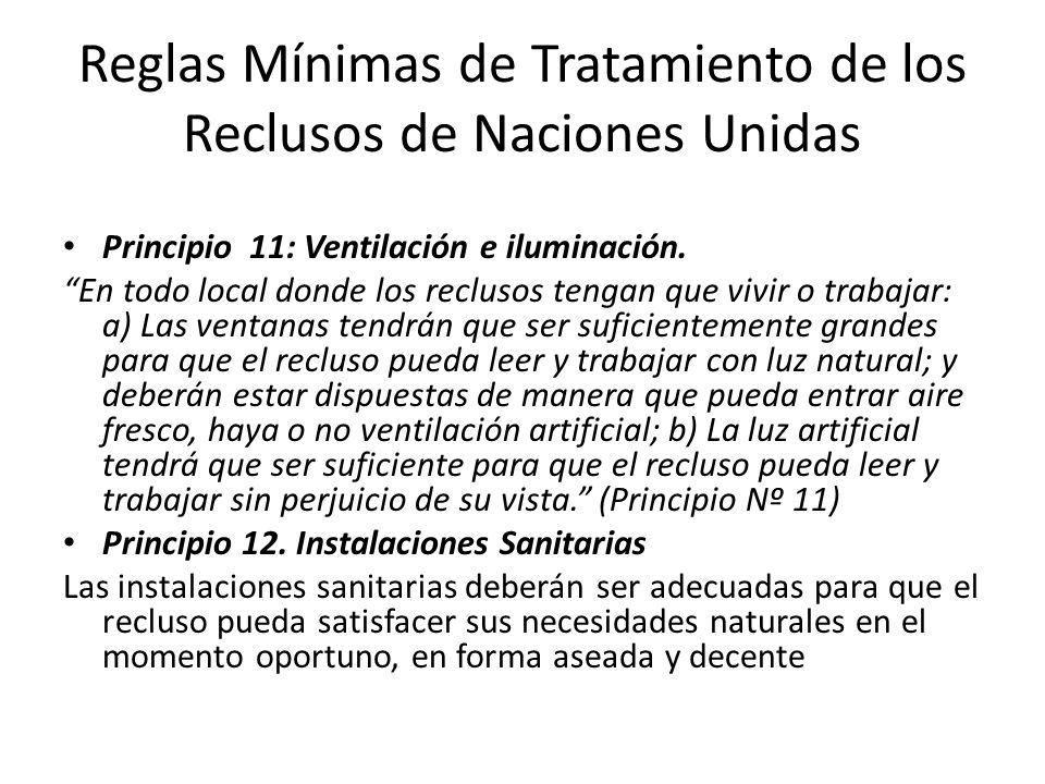 Reglas Mínimas de Tratamiento de los Reclusos de Naciones Unidas