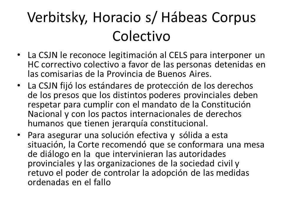 Verbitsky, Horacio s/ Hábeas Corpus Colectivo