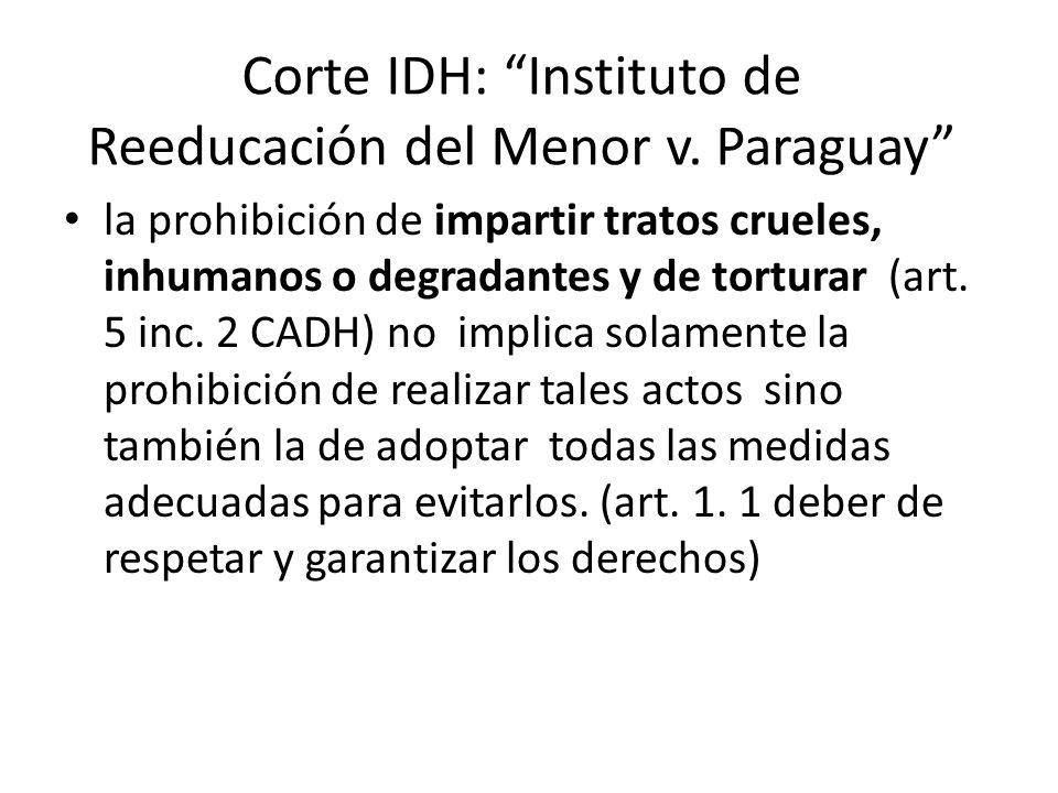 Corte IDH: Instituto de Reeducación del Menor v. Paraguay