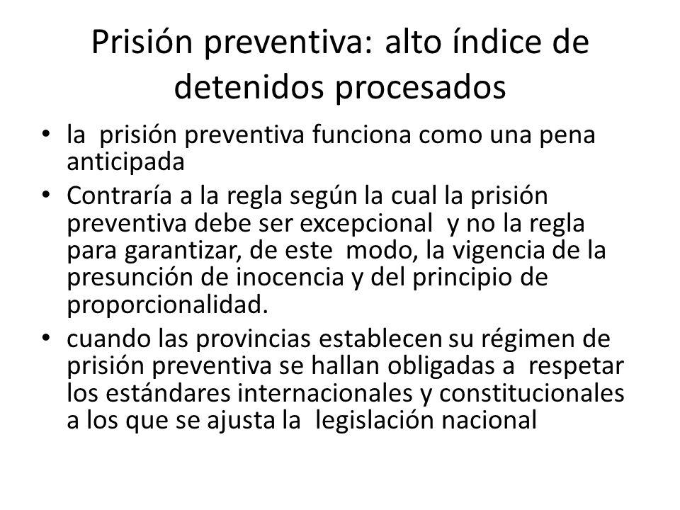 Prisión preventiva: alto índice de detenidos procesados