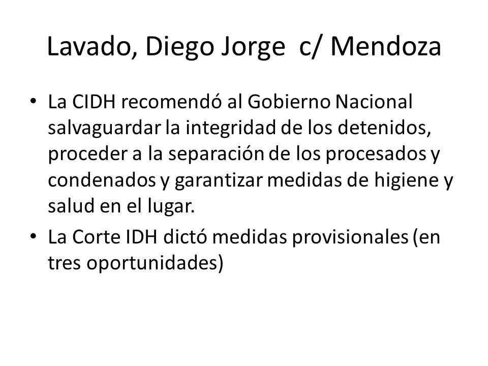 Lavado, Diego Jorge c/ Mendoza