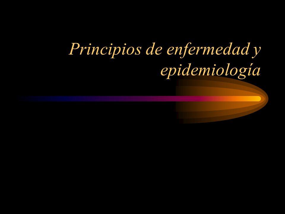 Principios de enfermedad y epidemiología