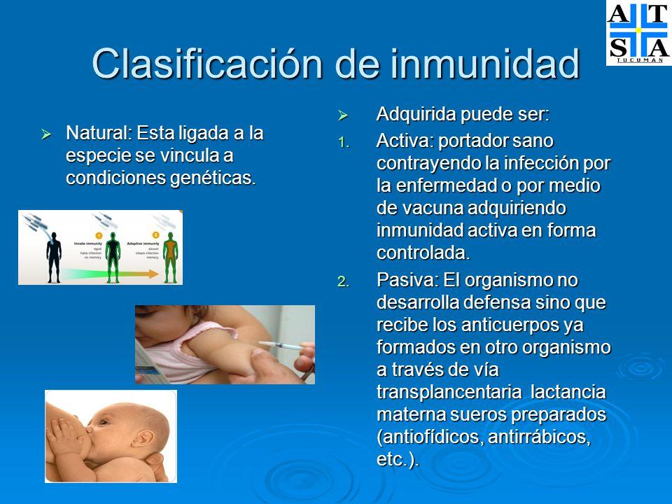 Clasificación de inmunidad
