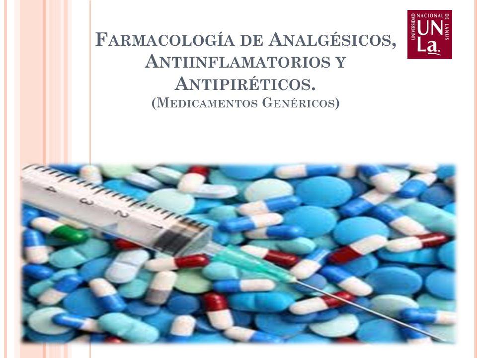 Farmacología de Analgésicos, Antiinflamatorios y Antipiréticos