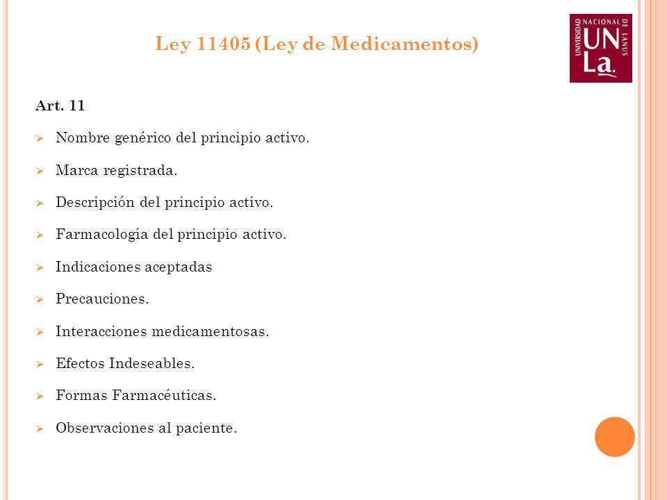 Ley 11405 (Ley de Medicamentos)