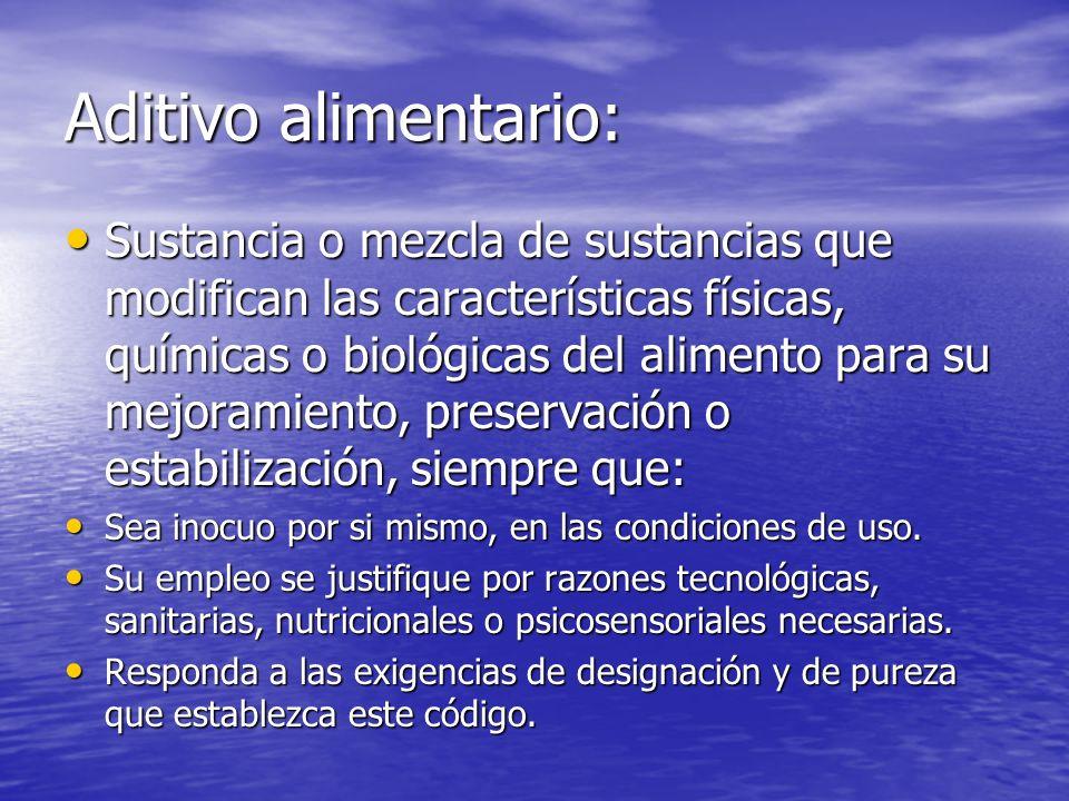 Aditivo alimentario: