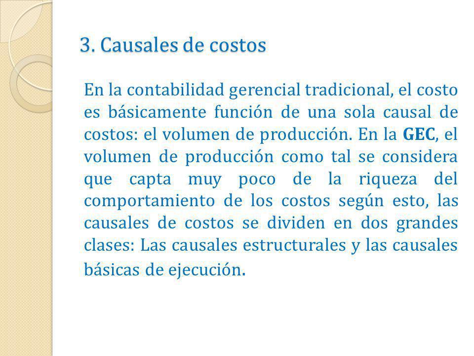 3. Causales de costos