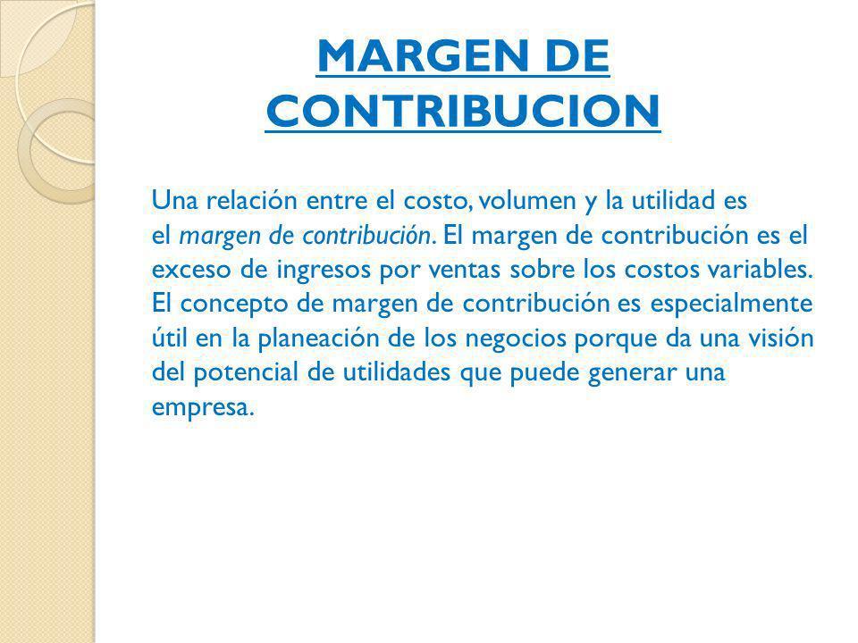 MARGEN DE CONTRIBUCION