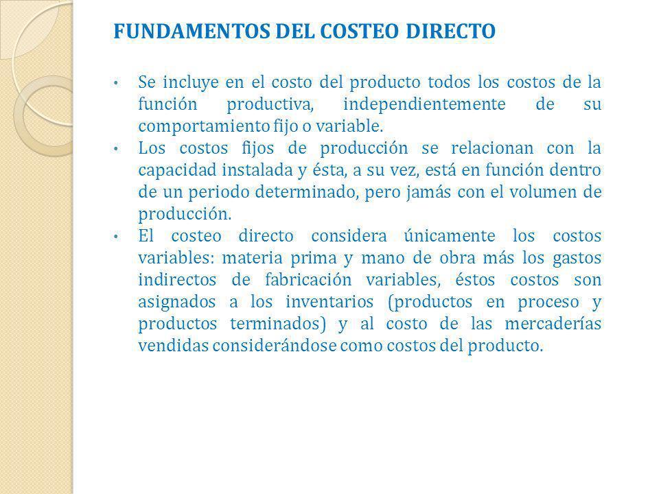 FUNDAMENTOS DEL COSTEO DIRECTO