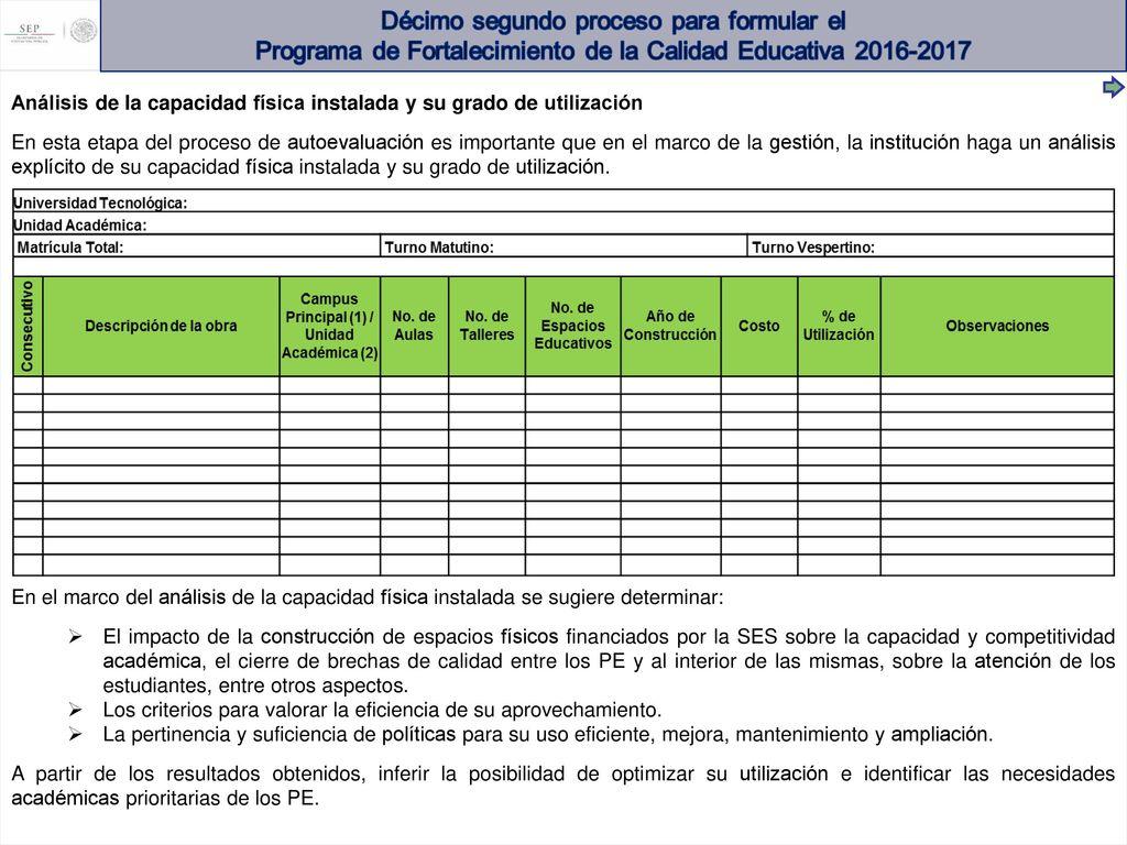 PROGRAMA DE FORTALECIMIENTO DE LA CALIDAD EDUCATIVA (PFCE) - ppt ...