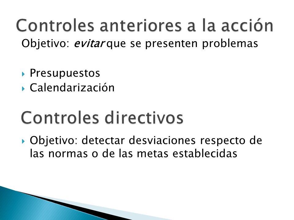 Controles anteriores a la acción