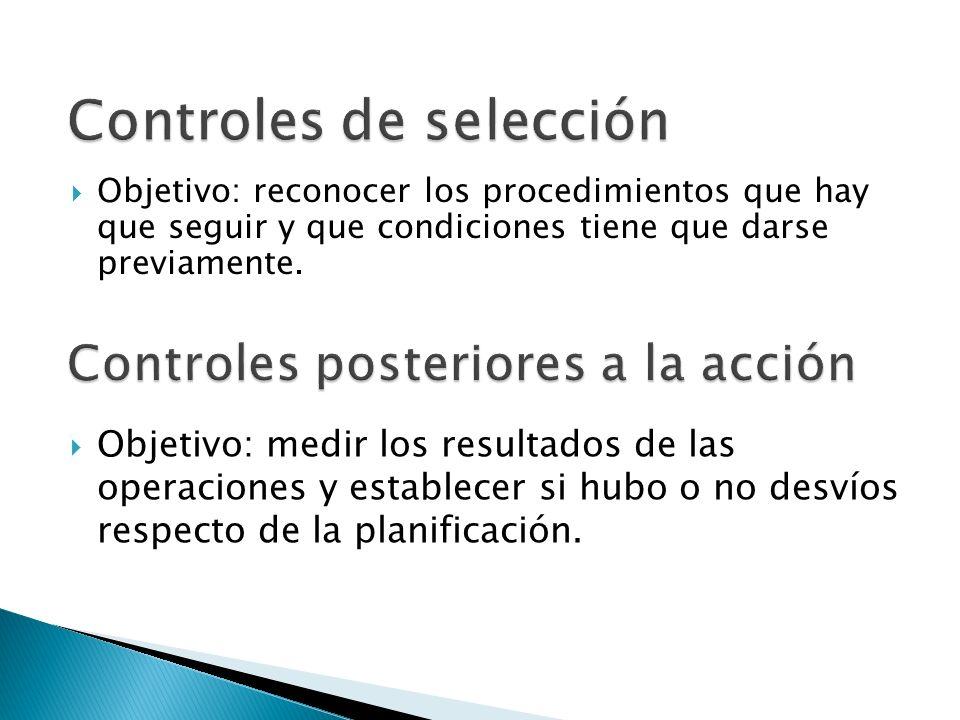 Controles posteriores a la acción