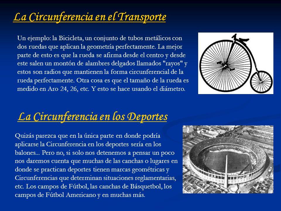 La Circunferencia en el Transporte