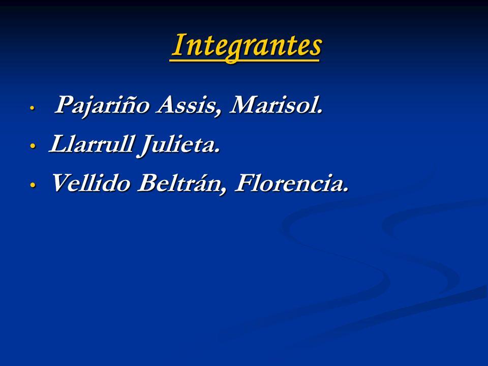 Integrantes Llarrull Julieta. Vellido Beltrán, Florencia.