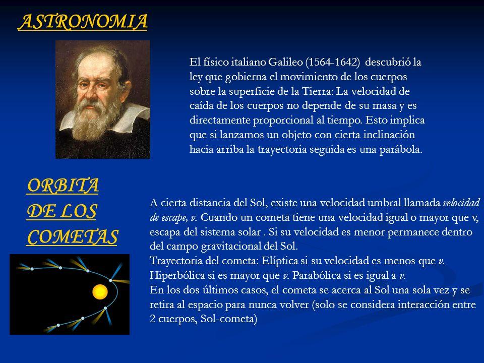ASTRONOMIA ORBITA DE LOS COMETAS
