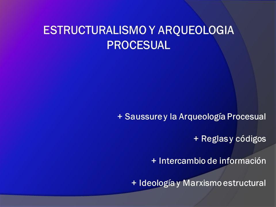 ESTRUCTURALISMO Y ARQUEOLOGIA PROCESUAL