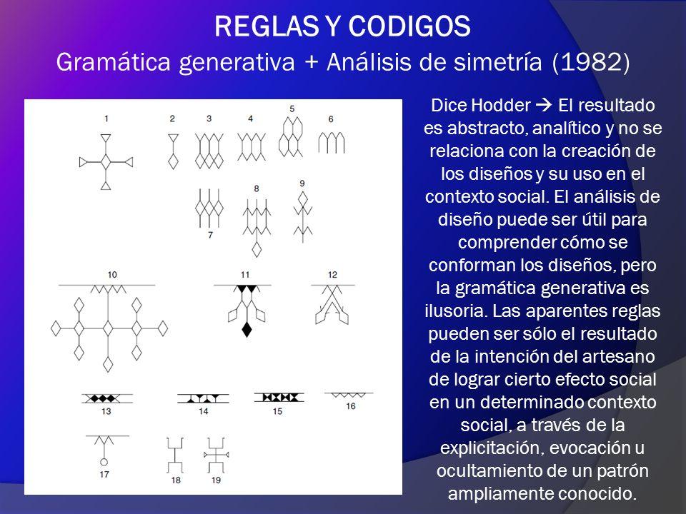 Gramática generativa + Análisis de simetría (1982)