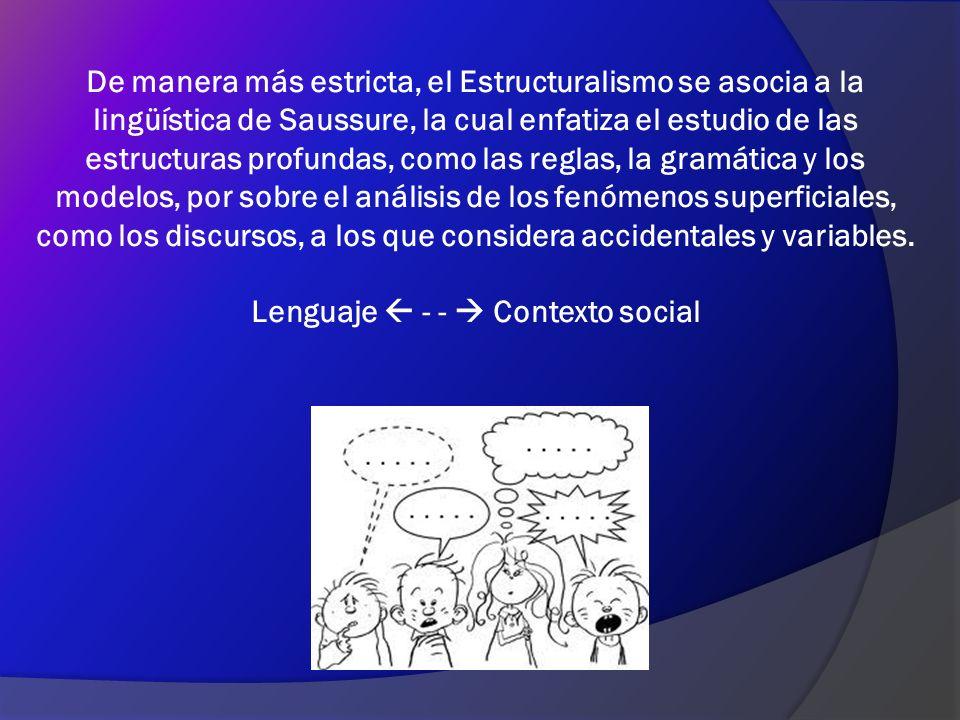 Lenguaje  - -  Contexto social