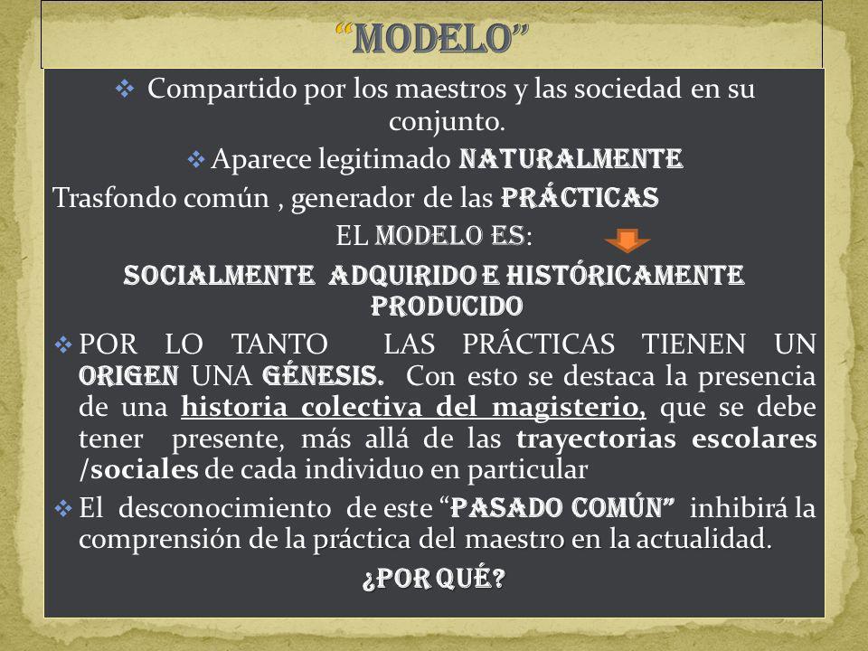 SOCIALMENTE ADQUIRIDO E HISTÓRICAMENTE PRODUCIDO
