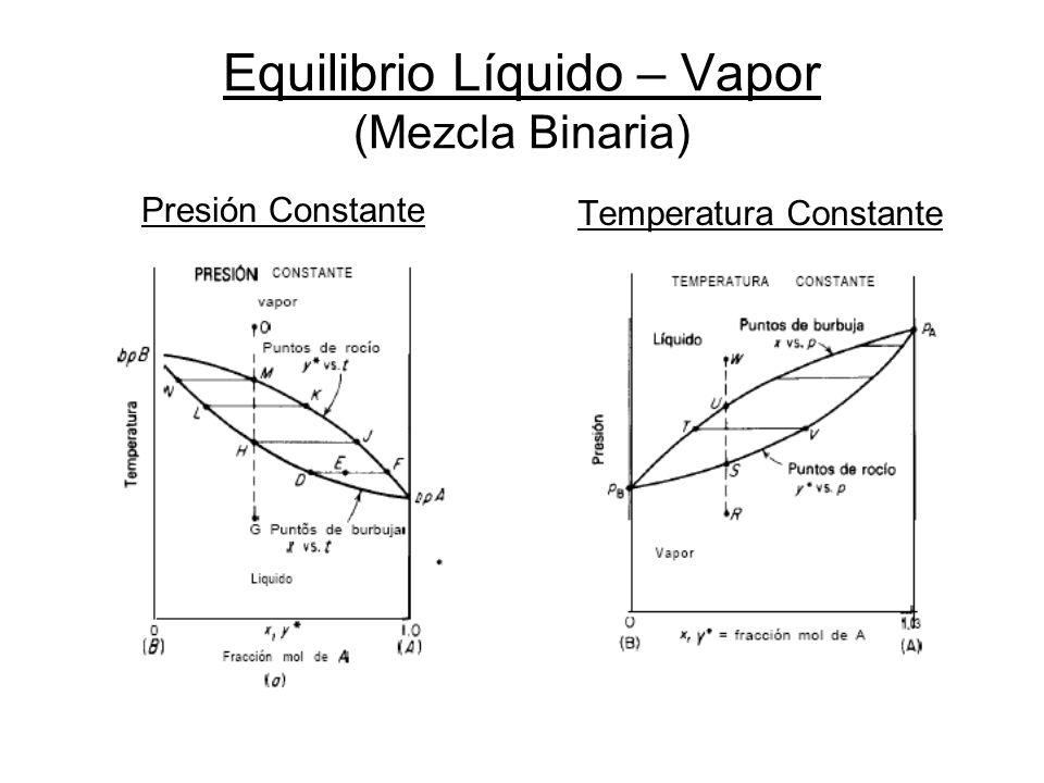 Equilibrio Líquido – Vapor (Mezcla Binaria)