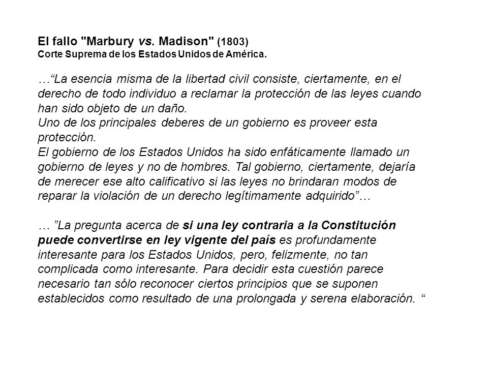 El fallo Marbury vs. Madison (1803)