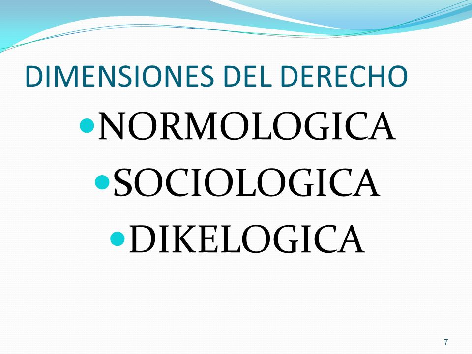 DIMENSIONES DEL DERECHO