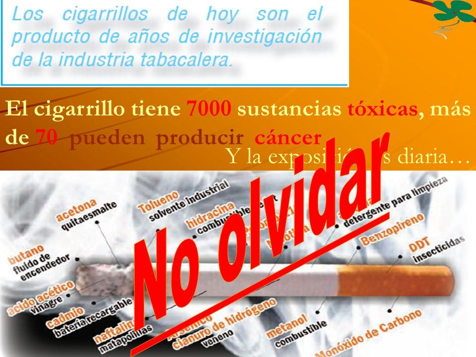 El cigarrillo tiene 7000 sustancias tóxicas, más de 70 pueden producir cáncer